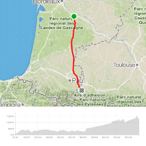 Day 1 Map - ride2barcelona 2020
